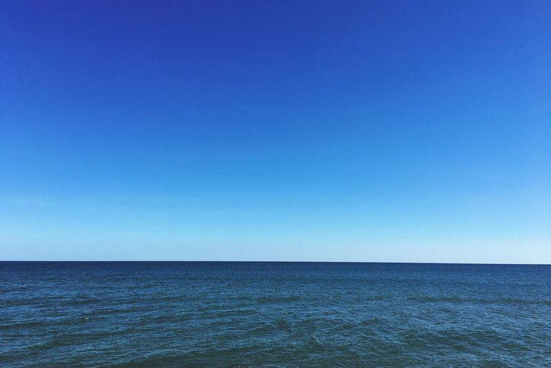 Blue Sea Copy Space Horizon Over Water Clear Sky Scenics Water Beauty In Nature Tranquility Nature Tranquil Scene No People Outdoors Day Sky Mediterranean  Mediterranean Sea