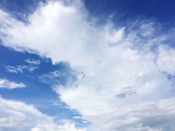 beautiful sky Cloud - Sky Sky Beauty In Nature Low Angle View Tranquility No People Nature White Color Day Scenics - Nature Blue Tranquil Scene Backgrounds Outdoors Idyllic Full Frame Meteorology White Sunlight Wispy