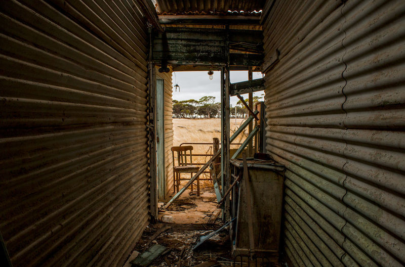 Farm House Ruined Building Outback Australia Farmhouse Rusty Abandoned Corrugated Weathered Iron Deterioration Ruined Run-down Southaustralia Building Damaged First Eyeem Photo