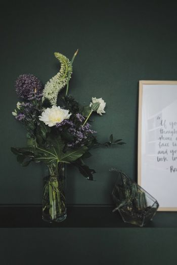 Flowers Plant Flower Flowering Plant Indoors  Vase No People Nature Decoration Close-up Beauty In Nature Art And Craft Flower Head Green Color Still Life Growth Freshness Publication Flower Arrangement Home Interior Table
