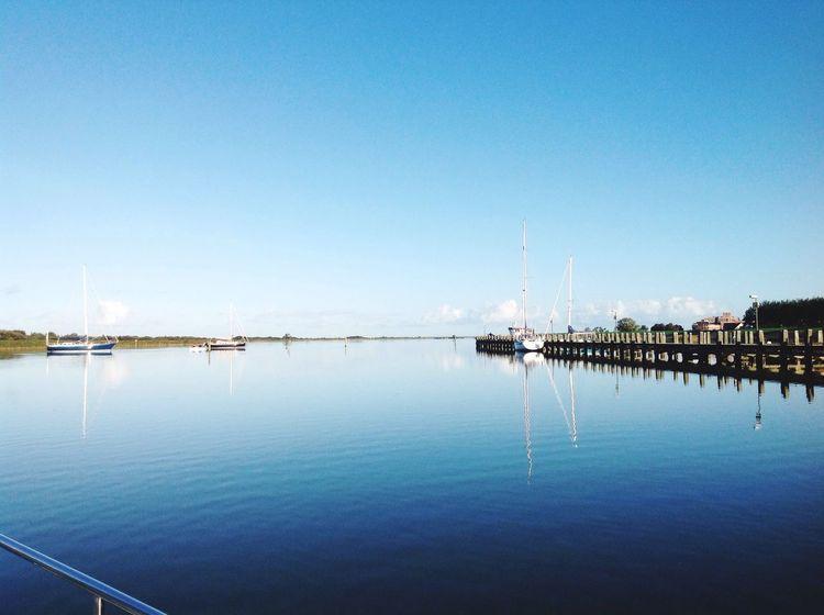 Clear Sky Water Tranquility Blue Makkum Friesland Netherlands First Eyeem Photo