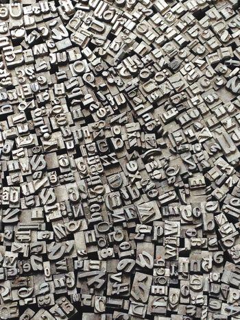Berlin Flea Markets Letters Printing Machine Pattern Pieces