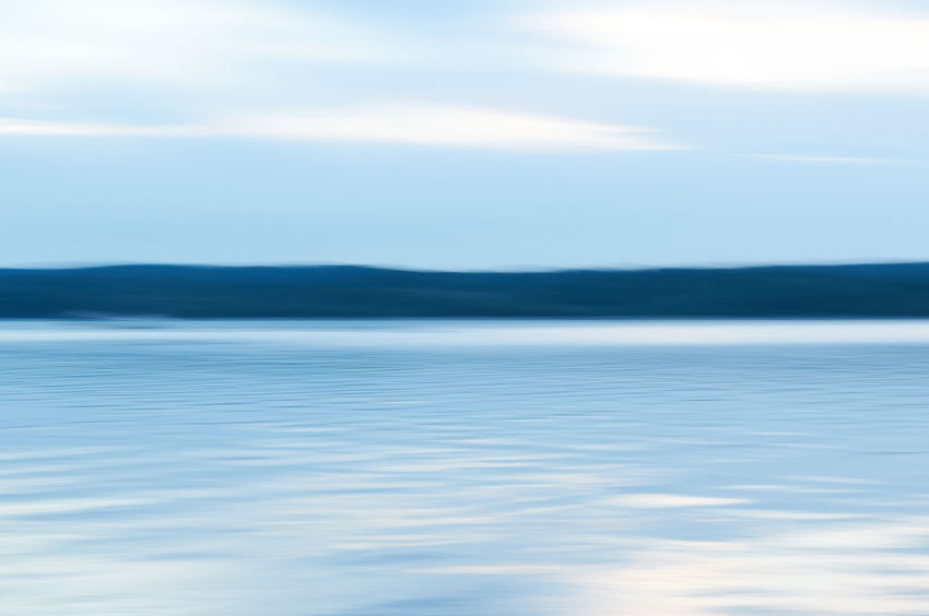 Abendklang_2016_08_8720 Blue Wave Cloud - Sky Horizon Horizon Over Water Landscape Nature No People Outdoors Sea Sky Tranquil Scene Water Breathing Space