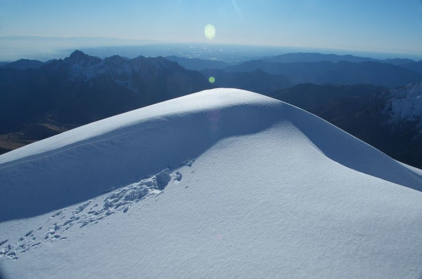 Snowy mountain Monte Arera Orobie Arera Cold Temperature Landscape Mountain Mountain Peak Orobie Alps Outdoors Pizzo Arera Pizzo Calabro Scenics - Nature Sky Snow Snow Covered Snowcapped Mountain Sunlight Winter