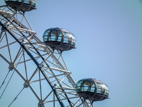 Amusement Park Antenna - Aerial Architecture Clear Sky Day England Gran Bretagna Great Britain Großbritannien Inghilterra London London Eye Londra Low Angle View No People Outdoors Sky Tower