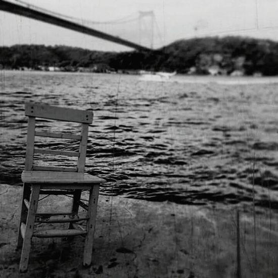 Chair Bridge Sea And Chair Sea And Bridge Black & White Blackandwhite Blackandwhite Photography Black And White Photography Istanbul Bridge And Chair Bridge And Water Water And Bridge Like4like Like Follow4follow Likesforlikes