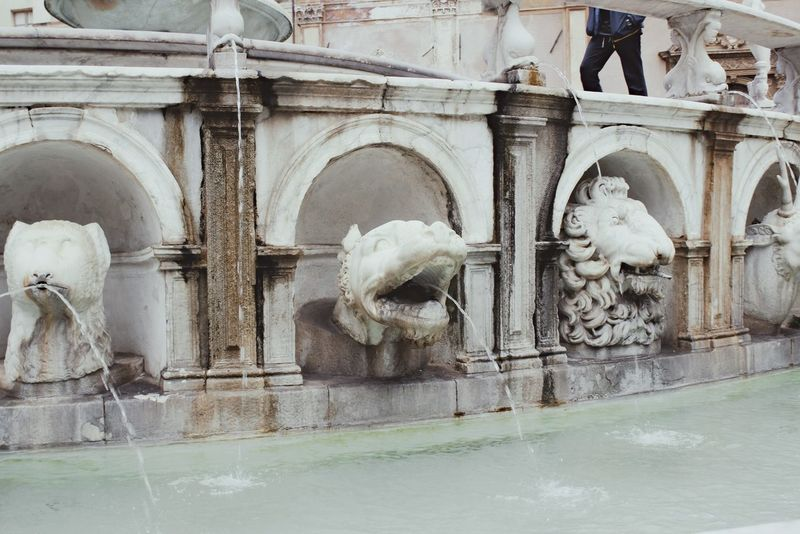 Ancient Architecture Building Exterior Façade Fontana Pretoria Fountain Fountain Gargoyle Historic History Old Old Town Palermo Palermo, Italy Sculpture Spout Square Statue Statue Stone Stone Material Travel Travel Destinations Water Water Play