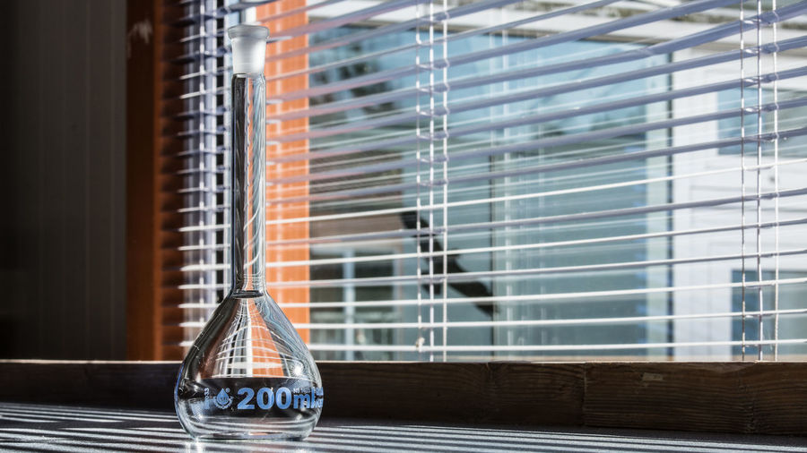 Architecture Blinds Building Built Structure Close-up Container Day Focus On Foreground Glass - Material Nature No People Outdoors Purity Reflection Still Life Sunlight Table Transparent Window