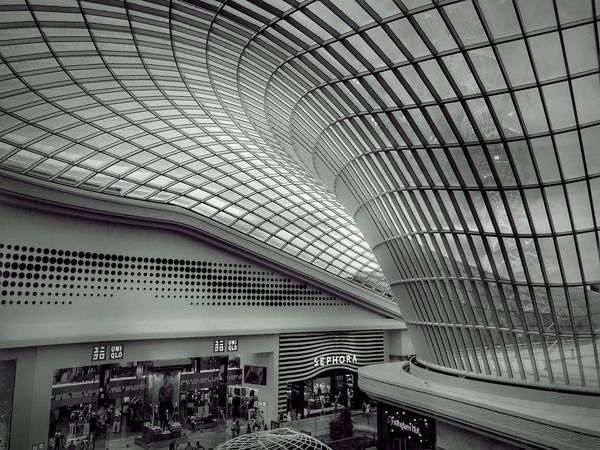 Architecture Indoors  Built Structure Ceiling Pattern Transportation Day