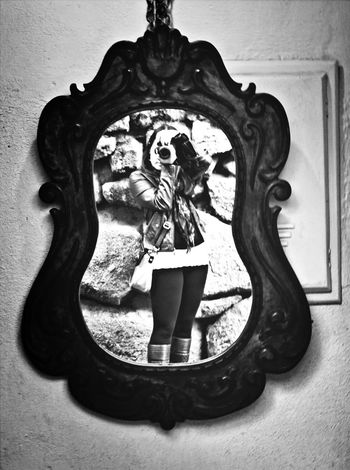 Black And White It's ME In The Mirror Mirror On The Wall!