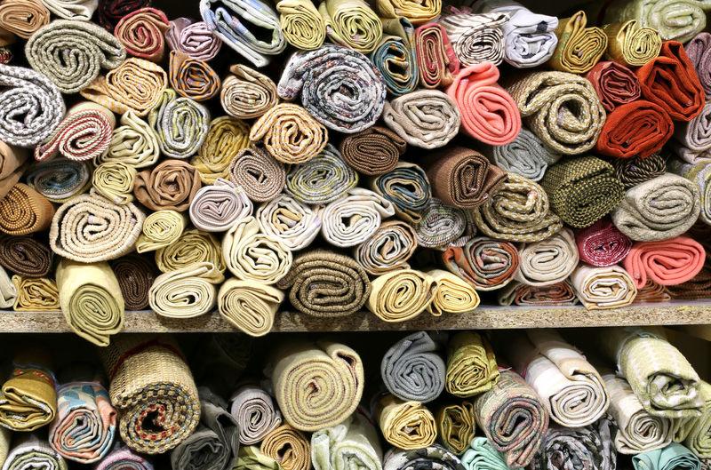 Full frame shot of patterned for sale at market