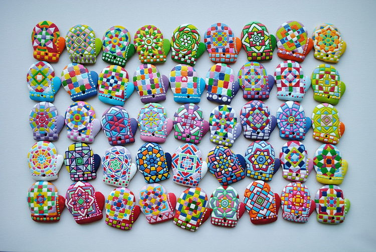 Mitten collection Cookies Christmas Around The World Christmas Design Colorful Easter Fingered Gloves Large Group Of Objects Mitten Shaped , Christmas Cookies Mittens Collection Multi Colored New Years Christ No People