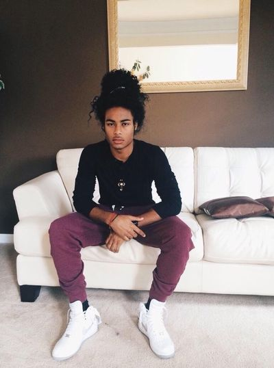 Mixed Boy Curly Hair Hair Bun Natural Hair Shamoy Persad Model Gorgeous Aesthetics Urban Fashion Street Fashion