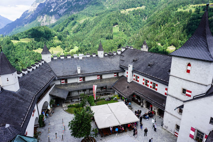 Castle Hohenwerfen (Austria) Austria Square Architecture Day High Angle View Medieval Medieval Architecture Medieval Castle Mountain Mountains Outdoors People Tree