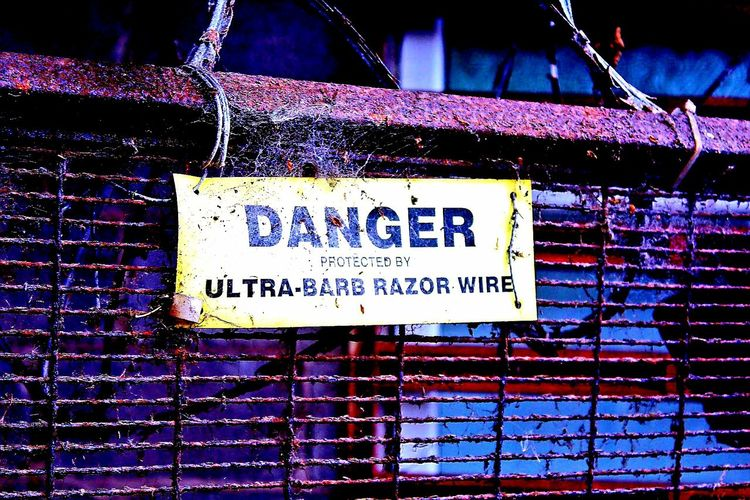 No People Close-up Barbed Wire Photos Snooping Around Mills Outdoors Building Exterior Razorwire Ect
