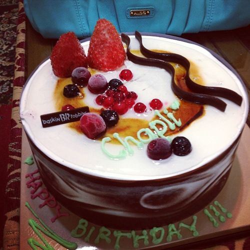 Happy B'day Didi =D Icecreamcake
