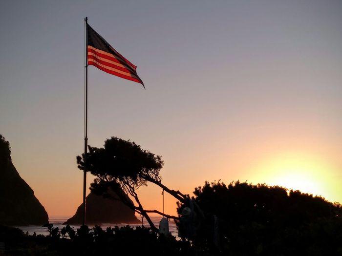 Twilight EyeEmNewHere Flag Sunset Patriotism No People Outdoors Sky Nature