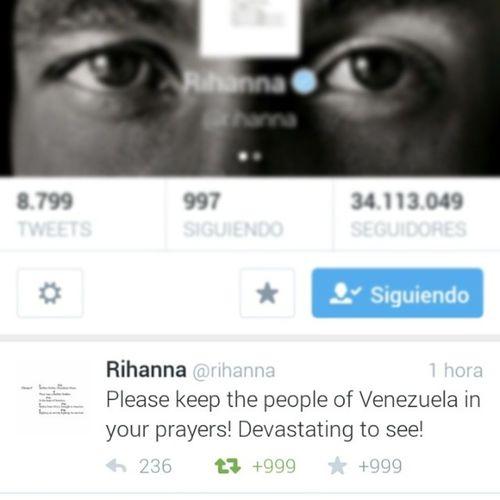 Rihanna ? Venezuela Democracia 12F 13F Libertad