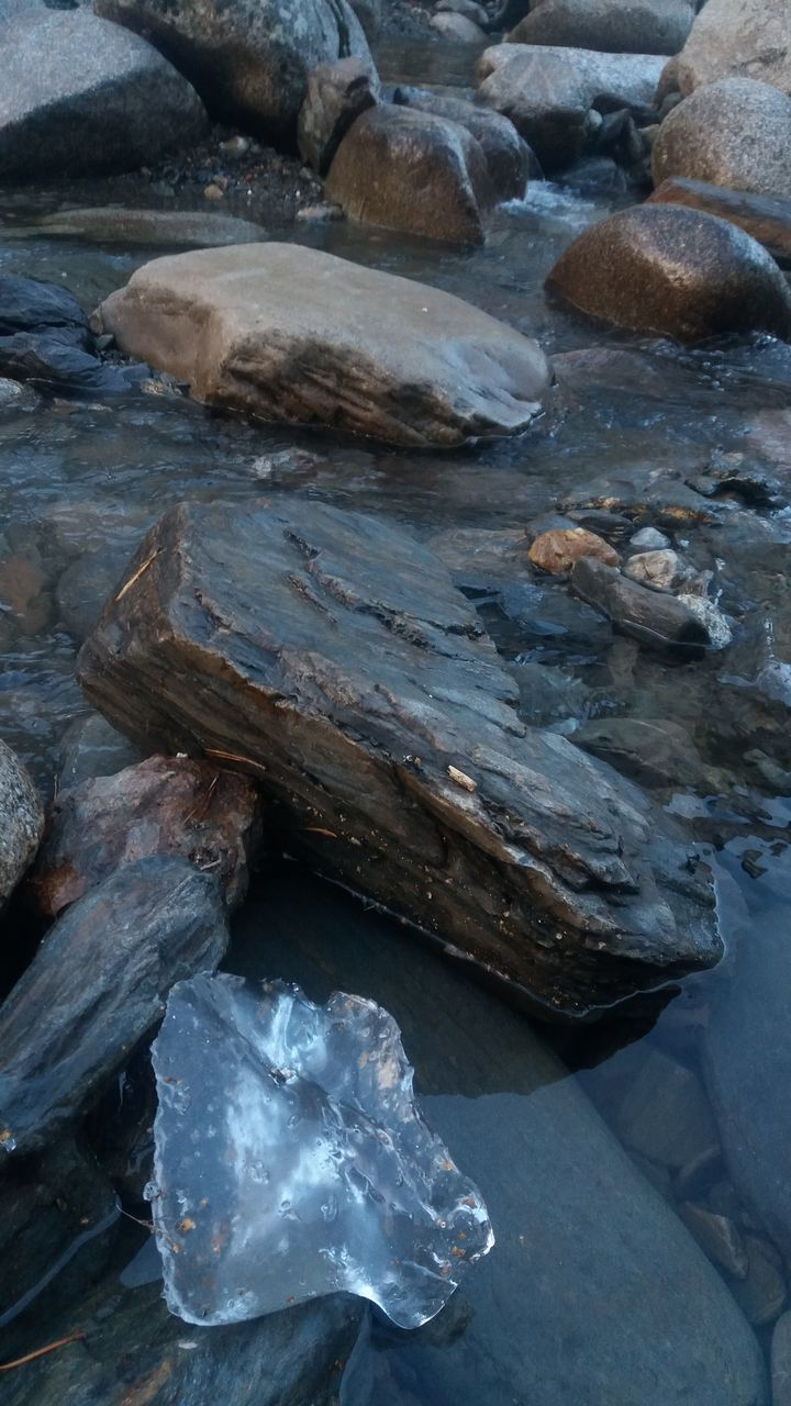 rock - object, water, no people, day, nature, outdoors, cold temperature, beauty in nature, close-up