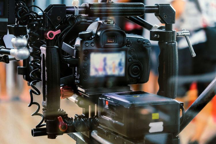 Close-up of camera machine