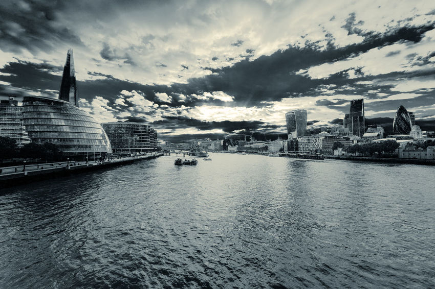 Monochrome processed, high contrast architecture, London, England, United Kingdom Abstract Architecture Building Built Structure City Cloud Cloud - Sky Cloudy Contrast Day Different Downtown Duotone Financal District High Contrast Modern Monochrome No People Outdoors Sky Skyscraper Split Col Split Toning Unique Urban