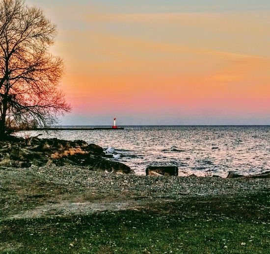 A late afternoon in November, on the shores of Lake Ontario, Canada Sunset Beauty In Nature Horizon Over Water Scenics Nature Outdoors Water Sea Sky first eyeem photo