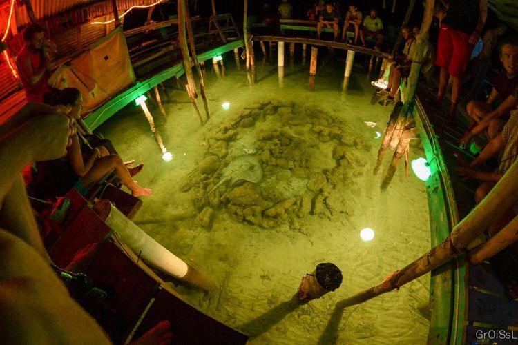 Bar Sting Ray  People Nightphotography Fisheye Utila ♡ Utila Ocean View Ocean Honduras