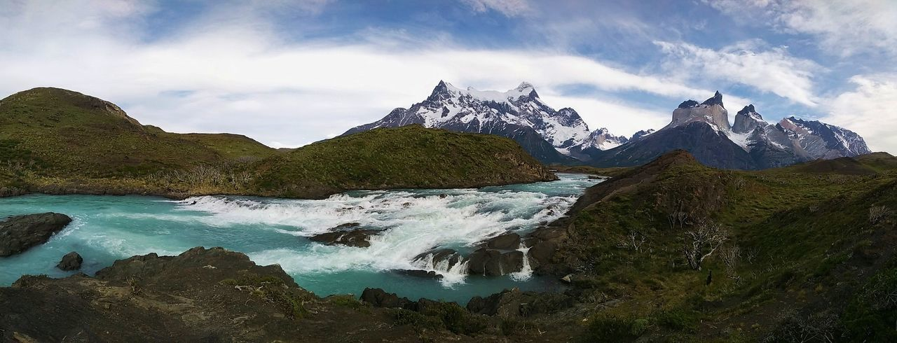 Idyllic panoramic view of torres del paine national park