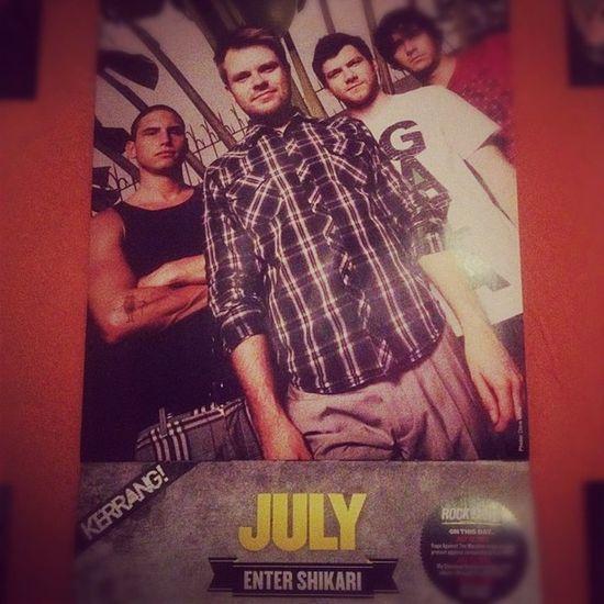 Hallo July! #july #kerrang #calendar #es #entershikari Calendar July Entershikari Es Kerrang