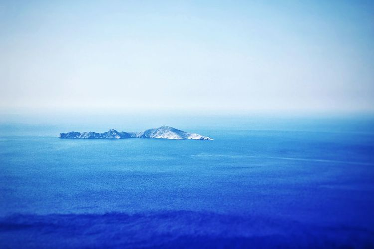 Sea Tranquility Tranquil Scene Blue No People Horizon Over Water Nature Beauty In Nature Day Pastel Colored Sky Water Pastel Blue Freshness Cyclades_islands Cyclades Summer Morning Island Greece Summer Memories Summer Holidays Summer Vacation Aegansea Mediterranean Sea