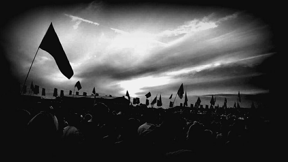 Glastonbury Glastonburyfestival Glastonbury 2015 Glastonbury Festival Blackandwhite Flags Crowd Music Check This Out Enjoying Life Evening Black And White Photography Somerset England Mobile Shots Popular Photos Eye4photography  EyeEm Best Shots On Stage Stage Gig