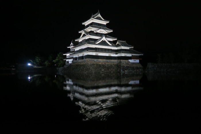 Castle Japan Matsumoto Castle / Japan Matsumoto CITY Nagano Prefecture,Japan National Treasure Night View Tranquility