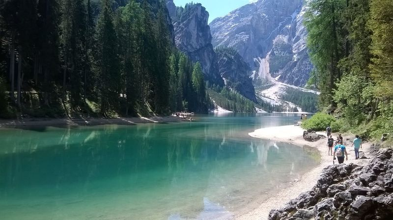 Adventure Beauty In Nature Day Full Length Lake Landscape Men Mountain Nature Outdoors People Real People Rock - Object Scenics Sky Snow Tree Two People Water Waterfall
