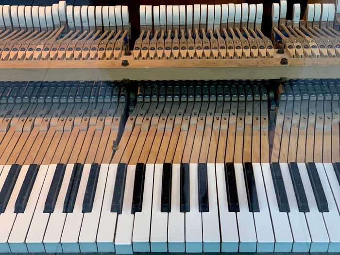Open piano keys