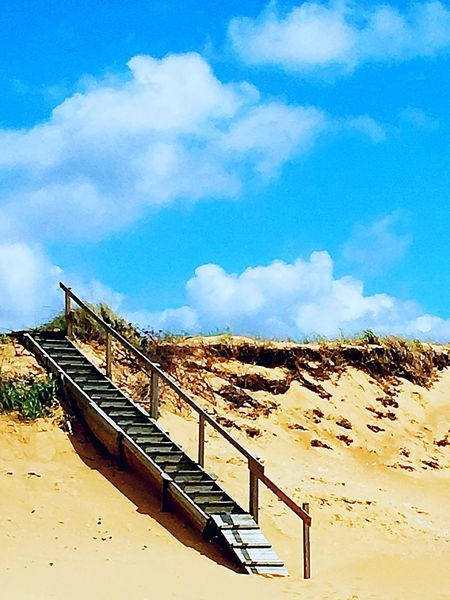 Railing Sky Cloud - Sky Day No People Sand Built Structure Outdoors Architecture Scenics Nature Hand Rail Mellbystrand Stairs