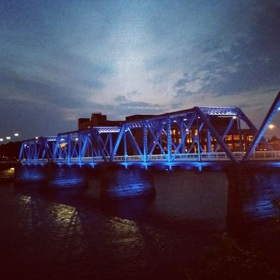 So good to be home. Gr Grandrapids Michigan Footbridge bluebridge