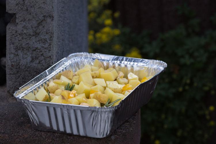 Close-up of potato salad