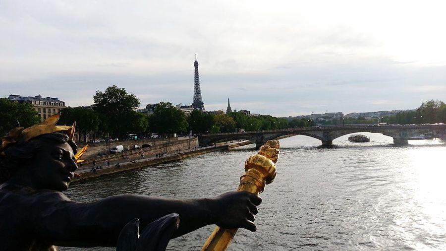 Paris Paris, France  France Tour Eiffel Eiffel Tower Eiffeltower Laseine River Riverside PontAlexanderIII Pontalexandreiii Pontalexandre3 Sky French Parisian Cliché
