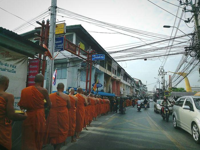 Monk Merit Nonthaburi Thailand Make Merit