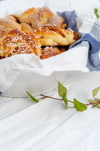 Cinnamon and cardamom buns Fika Food And Drink Heritage Food Swedish Bun Cardamom Bun Cinnamon Cinnamon Bun Cinnamon Buns Close-up Culture Food Food And Drink Freshness Indulgence Ready-to-eat Summer Temptation