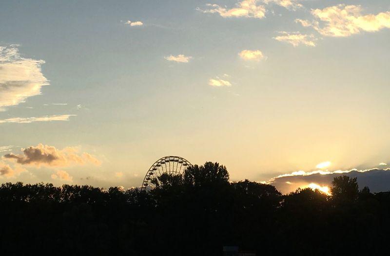 Berlin Cloud - Sky Cloudscape Dramatic Sky Evening Fair Ferris Wheel Ferriswheel Moody Sky Nature No People Outdoors Outline S Scenics Silhouette Sky Skyline Skyporn Spreepark Sun Sundown Sunset Tranquil Scene Tranquility