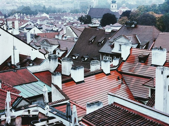 Rooftop View  Contrasting Colors Contrast Roofs Prague Praha City Town Travel Bird View Bright Rainy Days Your Ticket To Europe Colour Your Horizn EyeEmNewHere