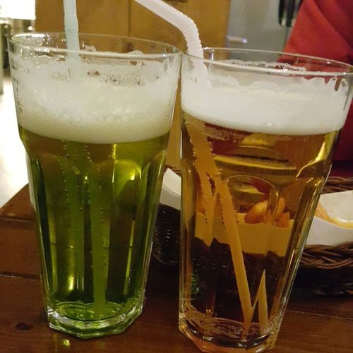 먹스타그램 청포도생맥주 라즈베리생맥주 개꿀맛 야식 맥주 폼프릿츠