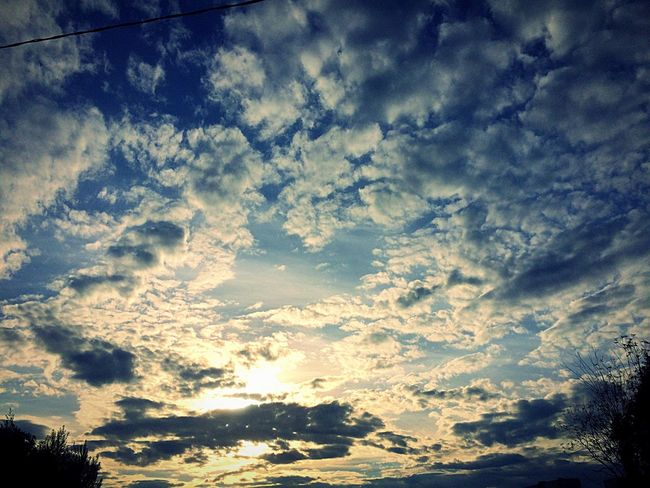 Beauty In Nature Nature Sky Scenics Low Angle View Cloudscape Majestic Tranquil Scene Cloud - Sky Tranquility Dramatic Sky No People Sky Only Idyllic Awe Outdoors Full Frame Blue Silhouette