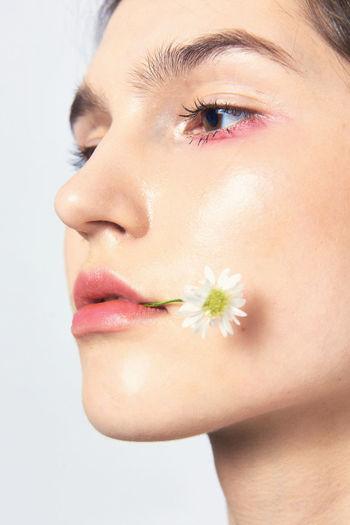 Fashion Nature Beauty Close Up Editorial  Flowers Marcfashionvn Portrait