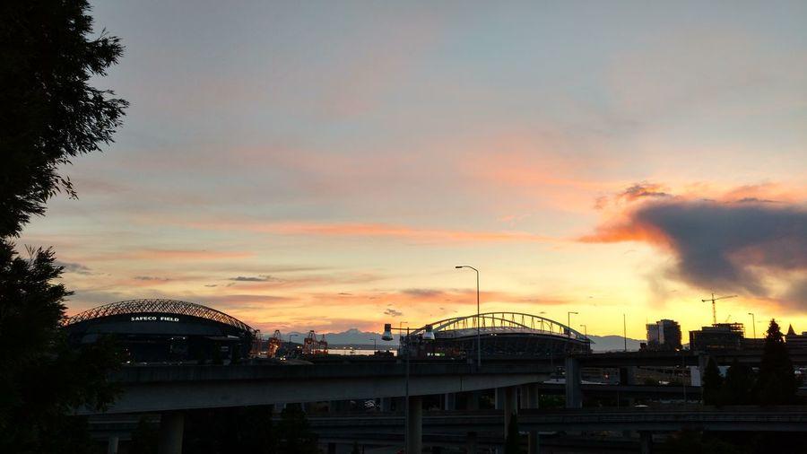 Taking Photo Seattle Sun Set