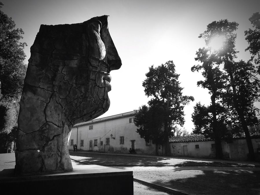 History Architecture Sculpture Day Outdoors Florence Florence Italy Tree Sky No People Sun Sunlight Vision Eye Storia Sculture Scultura Blackandwhite Biancoenero TCPM Break The Mold