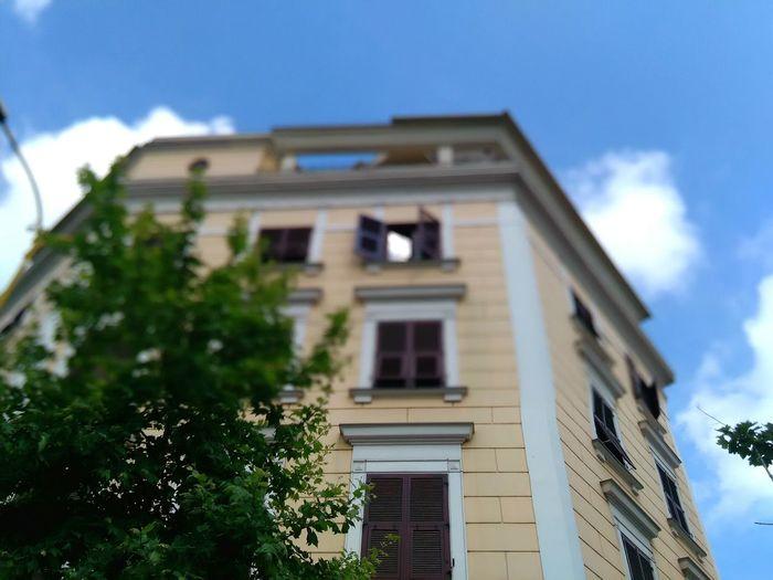 Glitch Blured Building Not Edited Buildings & Sky Tirana Albania Building Windows Tree Branches