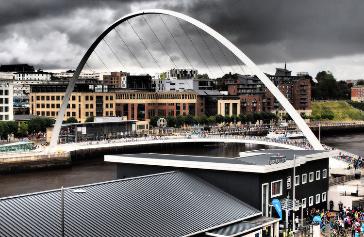 Newcastle upon Tyne on the Great North Run weekend 2017 Architecture Water Nature Real People City Modern Sky Tree Day Newcastle Upon Tyne Outdoors Storm Clouds Runners Footbridge Lots Of People Great North Run Cloud - Sky Building Exterior Built Structure Bridge - Man Made Structure Newcastle Bridges River Tyne,