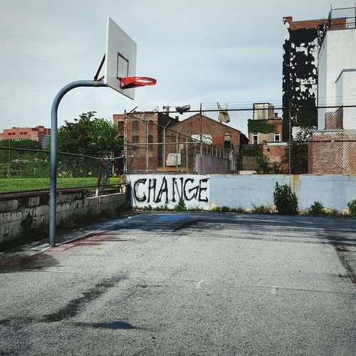 Change Baltimore BaltimoreCity Basketball Basketball Court Hoop Urban Decay Urbanphotography Streetart Graffiti Baltimoregraffiti Eastbaltimore Baltimore StreetBaltimorestreetart